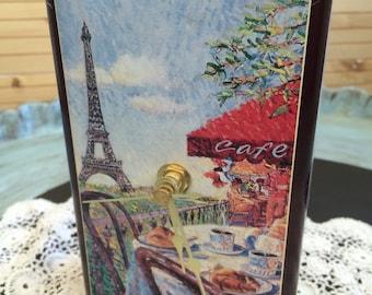 Re-purposed Paris Cafe Tin Clock