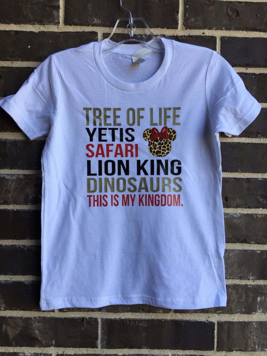 Free Shipping Animal Kingdom Shirt Castle Tshirts Subway