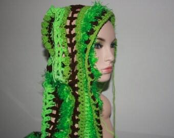 No: 24 Freeform crochet hat, wearable art, OOAK