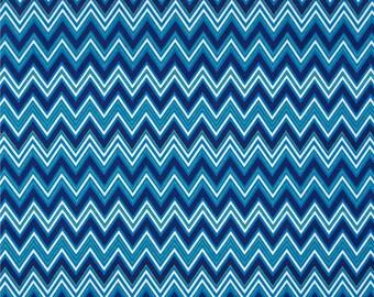 Robert Kaufman Turquoise Teal Chevrons 100% Cotton 21 Wale Corduroy Fabric UK seller