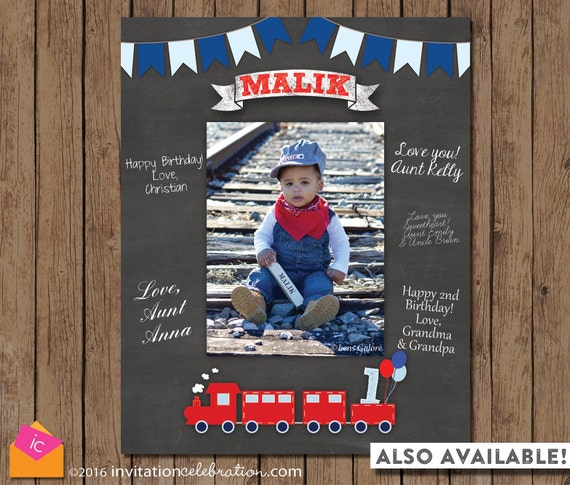 Thank Choo Train Party Favor Tags Birthday Red Blue
