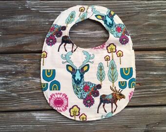 Baby/Toddler Bib ~ Geometric//Nature//Moose//Deer//Stag//Nature
