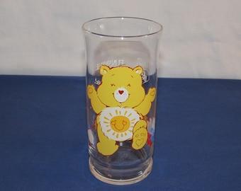 Care Bear Glass 1983 FUNSHINE BEAR Pizza Hut Promo