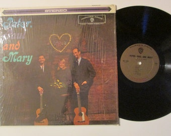 Peter Paul and Mary Self Titled 1962 60's Folk Vintage Vinyl Record LP