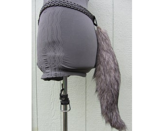 Wolf Tail - Gray, Black, White, Brown, or Blond