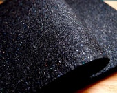 Glitter Felt - Black - Christmas Crafting Decorating - Kunin Eco-Fi Felt Made from Recycled Plastic Bottles Eco Friendly Recycled Polyester