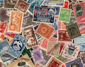 100 Older Diff. Worldwide Stamps, World Stamps, Stamp Collection,Foreign Stamps,Stamps, Postage Stamps,Lot of stamps,Collages