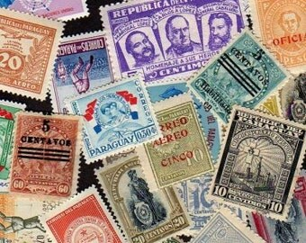 Paraguay Stamps, 40 Diff, Paraguay Postage stamps, South American Stamps, Stamps, Postage Stamps,Stamps, Crafts