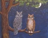 Art Animal Print Owl and ...