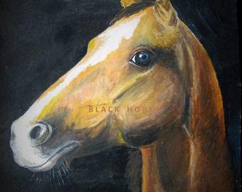 Red Horse/JPG/Horse portrait/digital art