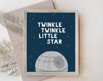Nursery Wall Art, Star Wars Nursery Decor, Star Wars Nursery Print, Toddler Room Decor, Jedi Nursery, Star Wars 8x10