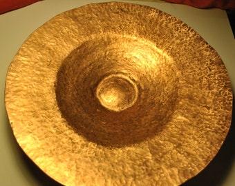 Raised Bowl Copper, Handmade Raised Vessel 01