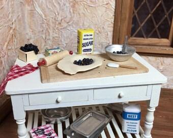 Blueberry Pie Prep Table