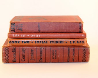Four Book Grouping - Red
