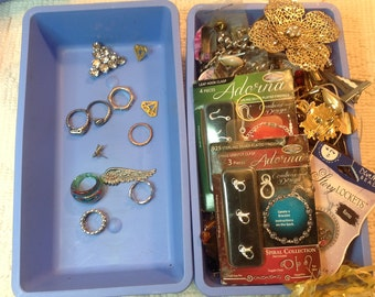 Junk Jewelry Lot - Many vintage pieces