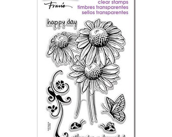 Stampendous DAISY THANKS Clear Acrylic Stamp set 1.cc02