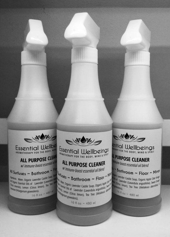 All Purpose Cleaner W Immune Boost Essential Oil Blend All
