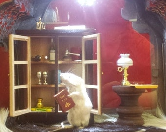 "Taxidermy Mouse Lawyer ""Perry Mouson"" Diorama-Justice-criminal-judge"