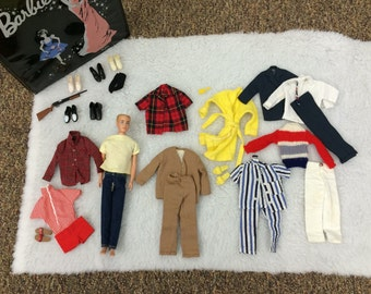 Vintage 1960 Ken Doll and Accessories