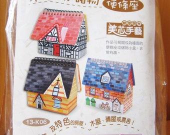 DIY Wood House w/ Memo Pad, personalised, Wood Box, wood burn, custom gift, ShineKidsCrafts