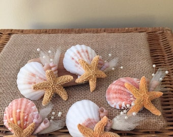 Xo bouquet sugar starfish boutonnieres five in package