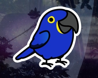 "Chubby Hyacinth Macaw 3.5"" Sticker [Outdoor Quality]"
