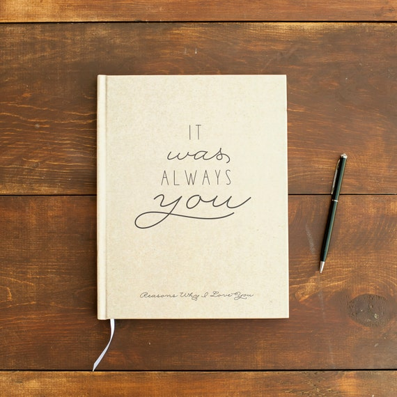 Reasons Why I Love You Journal Wedding Journal Love Journal notebook Personalized Customized rustic wedding keepsake wedding gift for bride