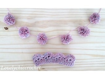 Crochet garland with crown