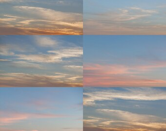Mountain Sky Overlays - Sunset and Sunrise - Photographer Tool Photography - Sky Overlay - Cloud Overlay - Instant Download