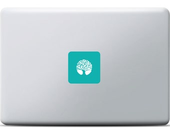 Tree MacBook Sticker, MacBook Air, MacBook Pro, Apple, Vinyl Decal, Lighted tree with leafs, Spiritual design for naturefans