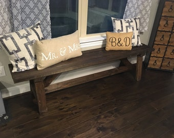 Rustic Farmhouse Bench - Austin, TX Local Delivery or Pickup Only