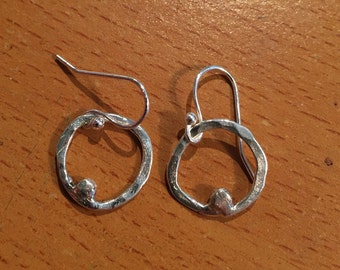 Handmade fine silver earrings