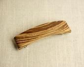 Zebrawood Barrette / Hair Clip / French Barrette (#1)