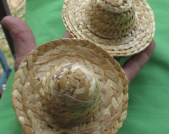 Lot Of Retro Miniature Straw Hats