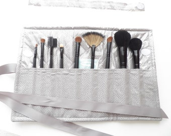 Make-Up Brush Roll Organizer Travel Accessory Bridesmaid Gift