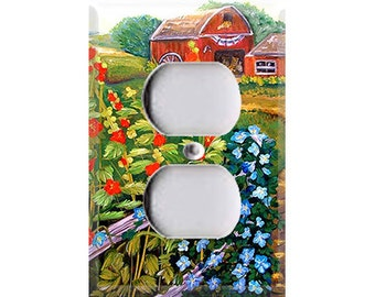 Americana Painting Single Outlet Cover
