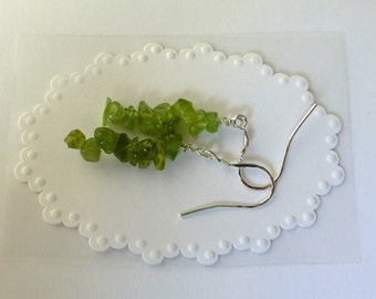 Peridot Chip Earrings With Sterling Silver