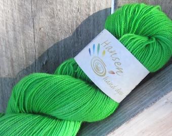 "Radioactive Melon - ""Flubbed"" - Twisty BFL - BFL/Nylon - Hand Dyed Sock Yarn"