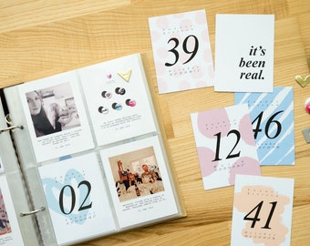Digital • Week Numbers 2016 • Journaling Card Printable. Perfect for Project Life · Intro Price in November!