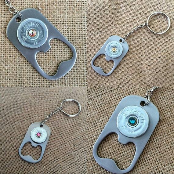 12 guage shotgun shell metal bottle opener keychain available. Black Bedroom Furniture Sets. Home Design Ideas