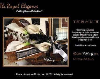 The Black Tie Wedding Broom