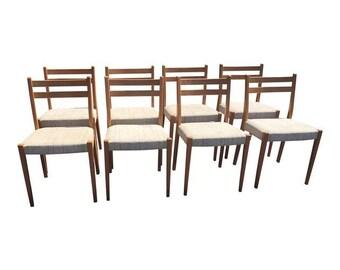 Danish Modern Svegards Markard Teak Dining Chairs - Set of 8