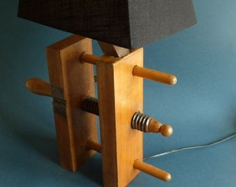 table lamp antique Book Press  bookends