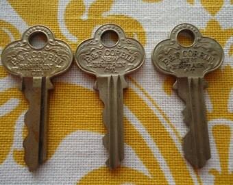3 P&F Corbin New Britain CT Cabinet Keys