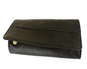 ON SALE Clutch purse in black , Leather wallet women , Women wallet