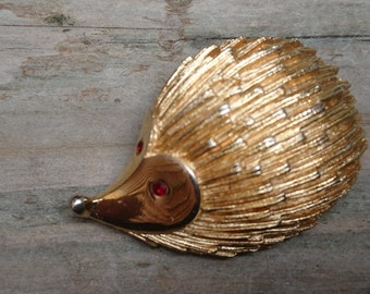 vintage Hedgehog brooch made by Sarah Coventry
