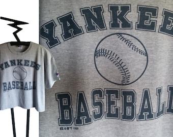 1998 New York YANKEES BASEBALL crop top style T shirt, size Large