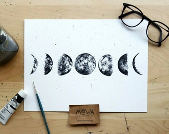 Moon Phases - Art Print