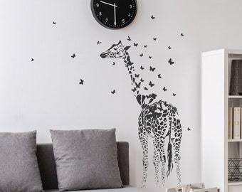 Giraffe Print Wall Sticker Decal Living Room Vinyl Transfer