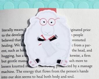 Knitting Sheep Magnetic Bookmark (Jumbo)